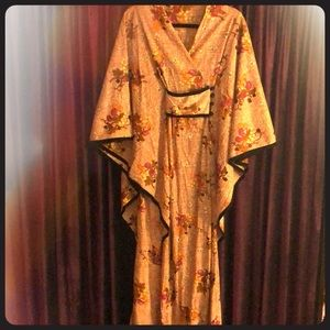 Vintage fall cornucopia kimono/ S